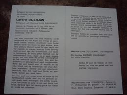 Doodsprentje/Bidprentje  Gerard BOERJAN   Zelzate 1920-1988 Gep.Adjudant-Rijkswachter  (Echtg Lydie CALLEWAERT) - Religione & Esoterismo