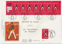 France FDC Grand Format 1993 Journée Du Timbre 2792 Et BC2793A - 1990-1999