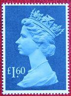 £ 1.60 Large MACHIN QE II Definitives High Value (Mi 1121) 1987 POSTFRIS MNH ** ENGLAND GRANDE-BRETAGNE GB GREAT BRITAIN - Nuovi
