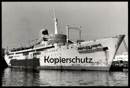 ÄLTERES ORIGINAL FOTO UNBEKANNTES KREUZFAHRTSCHIFF ÜBERHOLUNG WERFT Cruise Liner Ship Schiff Ansichtskarte Cpa Postcard - Zonder Classificatie