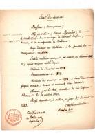 Etat De Services De DUFAU Jean-Pierre Né à Orthez Le 9 Avril 1745 Médecin Des Pauvres Reçu Chevalier En 1842 - Manuscripten