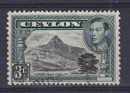 Ceylon: 1938/49   KGVI - Pictorial  SG387   3c   [Perf: 13 X 11½]  Used - Ceylon (...-1947)