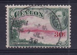 Ceylon: 1938/49   KGVI - Pictorial  SG393   30c   [Wmk Sideways]   Used - Ceylon (...-1947)