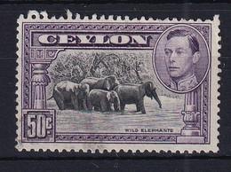 Ceylon: 1938/49   KGVI - Pictorial  SG394b   50c   [Perf: 13½]   Used - Ceylon (...-1947)