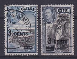 Ceylon: 1940/41   KGVI - Surcharge      Used - Ceylon (...-1947)
