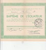 C.M.B.PAQUEBOT ARMAND GRISAR BAPTEME DE L,EQUATEUR - Programma's