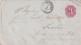 WÜRTTEMBERG 1869  ENTIER POSTAL/GANZSACHE/POSTAL STATIONERY LETTRE DE MÜHRINGEN - Interi Postali