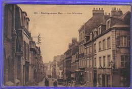 Carte Postale 62. Boulogne-sur-mer  Rue Félix Adam Très Beau Plan - Boulogne Sur Mer