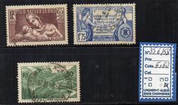 FRANCE OBLITÉRÉ - 356/58 - Usados