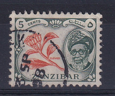 Zanzibar: 1957   Sultan Kalif Bin Harub - Pictorial    SG358   5c  Used - Zanzibar (...-1963)