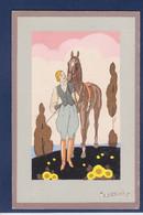 CPA Meschini Femme Women Femme Glamour Art Déco Non Circulé Cheval Horse - Andere Zeichner