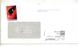 Lettre Poste Privée Litif Vignette Papillon - Machine Stamps (ATM)