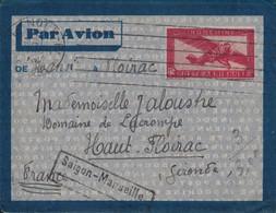 INDOCHINE - ENTIER POSTAL - HANOI POUR LA FRANCE - GRIFFE SAIGON-MARSEILLE - 23-5-1934. - Briefe U. Dokumente