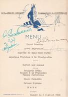 C.M.B.PAQUEBOT ARMAND GRISAR MENU AVEC DEDICACE - Menus