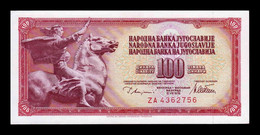 Yugoslavia 100 Dinara 1978 Pick 90Ar Serie ZA Replacement SC UNC - Yugoslavia