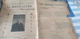 CHANSON POLITIQUE SOCIALE/LES RETRAITES OUVRIERES/GABRIEL ZALLAS - Partitions Musicales Anciennes