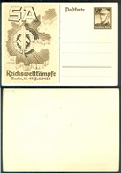 Deutsches Reich 1938 Ganzsache Postkarte P271 Reichtswettkämpfe Nicht Gelaufen - Postwaardestukken