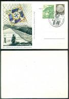 Deutsches Reich 1941 Ganzsache Postkarte P243 Mit Unseren Fahne Ist Der Sieg Mit Mi 753 Gestempelt Nicht Gelaugen - Postwaardestukken