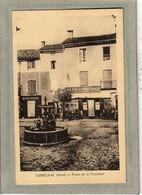 CPA (30) GENOLHAC - Aspect Du Café Du Commerce Et De La Boucherie De La Place De La Fontaine En 1930 - Other Municipalities