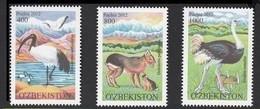 2012Uzbekistan1046-1048Birds6,50 € - Swans