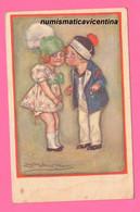 Mauzan Bambini 1919 Illustratori Le Premier Baiser The First Kiss 2 Children X Caserma Umberto I° Di Pavia - Mauzan, L.A.