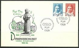Norway 1968 Mi 574-575 FDC  (FDC ZE3 NRW574-575) - Berühmt Frauen