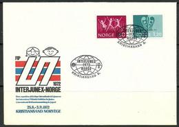 Norway 1972 Mi 647-648 FDC  (FDC ZE3 NRW647-648) - Briefmarkenausstellungen