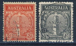 """1935 Australia VF Used Complete Set Of 2 Stamps """"Anzac"""" SC # 150-151 - Used Stamps"""