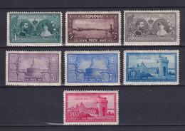 ROMANIA 1928, Mi# 339-345, CV €50, Architecture, MH - Unused Stamps