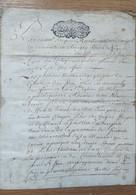 Parchemin 1708 Contrat De Mariage - Manuscripten