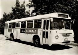 CPA Berliner Verkehrsmittel, Autobus Serie 5, Büssing E 2 U Präsident Baujahr 1963, AEG Reklame - Unclassified