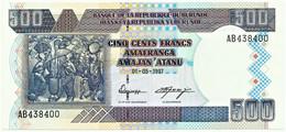 BURUNDI - 500 FRANCS - 01/05/1997 - Pick 38.a - UNC. - Série AB - Burundi