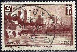 France 1938 - Mi 412 - YT 391 ( Avignon- The Palais Des Papes And The Pont Bénazet ) - Usati
