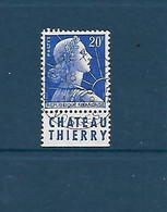 """20 F Marianne De Muller Avec Bande Publicitaire """"Château-Thierry"""" Oblitéré - 1955- Marianna Di Muller"""