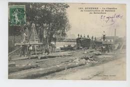 AUXERRE - Le Chantier De Construction De Bateaux Du Batardeau - Auxerre