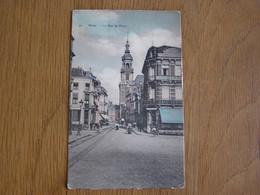 MONS La Rue De Nimy Colorisée Animée Hainaut België Belgique Carte Postale - Mons