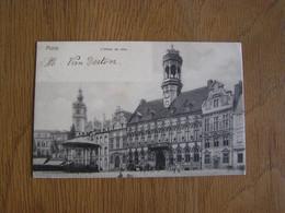 MONS L'Hôtel De Ville Animée Kiosque  Hainaut België Belgique Carte Postale - Mons