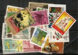 Perou,Panama,Paraguay,Venezuela,Bresil,Cuba Etc Differents, Bonne Qualité.Lot De Timbres Oblitérés (30) Lot # 3 - Alla Rinfusa (max 999 Francobolli)