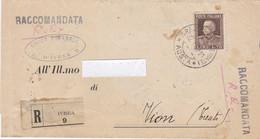 1929 Piego Raccomandato Da Ivrea Per Vion Trento Con Lire 1,75 - Marcophilia