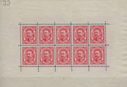 Luxembourg - Luxemburg - Timbres  1906  Guillaume IV  Feuillet  10 X 10C  MH*  Pli Au Milieu   VC. 500,- - Blocks & Kleinbögen