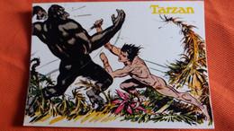 CPSM LES AVENTURES DE TARZAN ED YVON  KING KONG TARZAN NU DANS LA JUNGLE COMBAT - Cómics