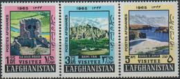 Afghanistan 1965 Stamps Visit Afghanistan Buddha Bamiyan Valley - Afghanistan