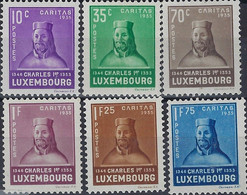 Luxembourg - Luxemburg - Timbres  1935  CARITAS    Charles Iier  Série  MH*   VC. 150,- - Oblitérés