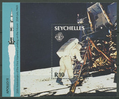 Seychellen 1989 Apollo 15 Bemannte Mondlandung Block 32 Postfrisch (C29126) - Seychelles (1976-...)