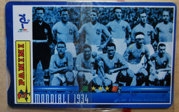 SCHEDE TELEFONICHE PASSIONE MONDIALE 1934 - Collezioni