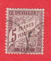 TIMBRE TAXE N°27 OBLITERE TTB SIGNE CALVES ET BRUN COTE 475€ - 1859-1955 Used