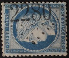 60C Obl GC 2280 Mauron (54 Morbihan ) Ind 6 ; Frappe Très Nette - 1849-1876: Classic Period