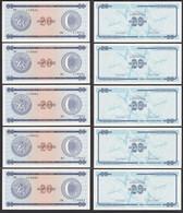 Kuba - Cuba 5 Stück á 20 Peso Foreign Exchange Certificates 1985 Pick FX23 UNC - Andere - Amerika