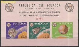 Ecuador 1965 Mi Block 15 MNH  (ZS3 ECDbl15) - Télécom