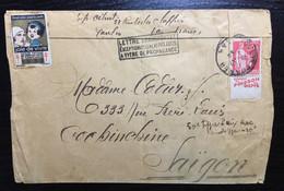 France Paix 50c Avec Pub Sur Lettre 1932 - Unclassified